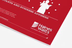 Haines Watts brochure closeup