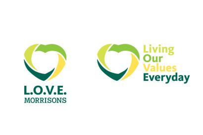 L.O.V.E. Morrisons logo options