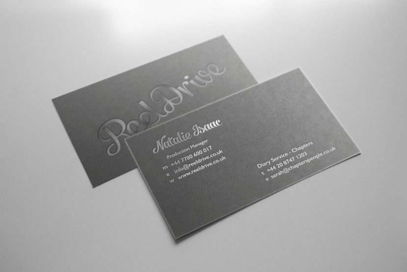 foil block business cards