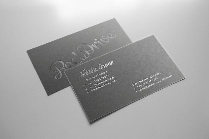foil block business cards