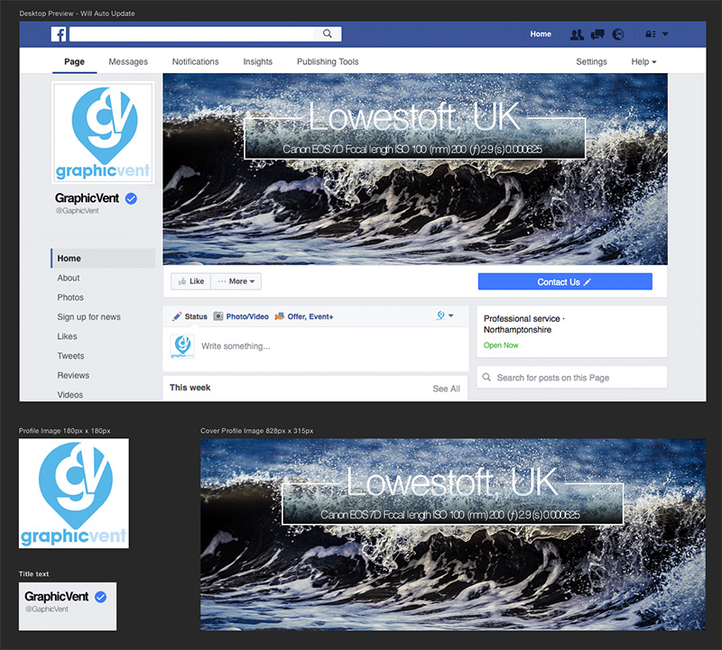 Free Facebook Page Template Graphicvent Com